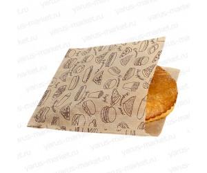 Уголок бумажный для фасовки печенья, 25×17см, 14×16см, белый