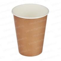 Стаканчик для горячих напитков белый, коричневый