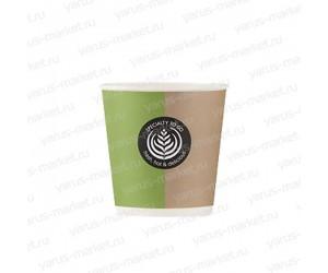 Бумажные стаканы, 100 мл, с логотипом, для горячих напитков