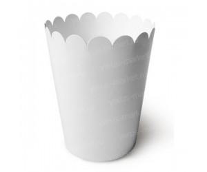 Стакан для попкорна белый 1000-1500 мл