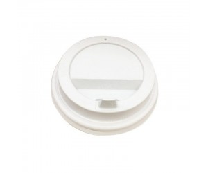 Крышка для стакана, пластиковая, 80 мм, белая