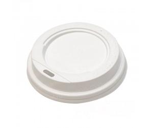 Крышка для стакана, пластиковая, 90 мм, белая