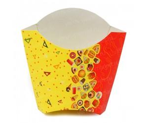 """Коробка для фри, дизайн """"Рог Изобилия"""", 80 гр"""