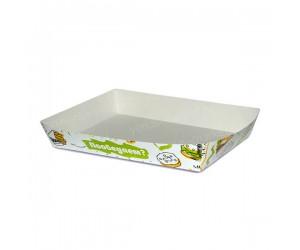 Лоток бумажный Foodкорт 170×120×30 мм