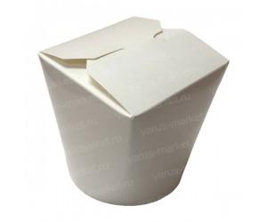 Коробка для лапши WOK, 530/700 мл, ламинированный картон, белый цвет