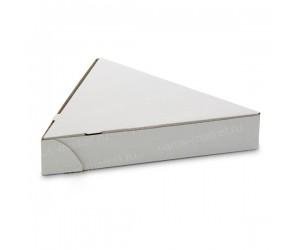 Коробка для пиццы, треугольной формы, белая