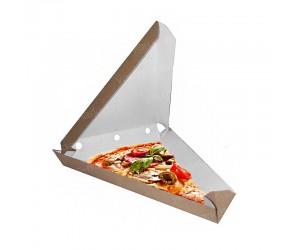 Уголок для пиццы из темной крафт бумаги