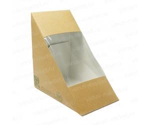 Треугольник для сэндвичей из крафт-картона 68-85мм