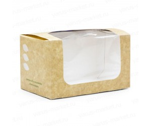 Коробка для сэндвичей Bloomer из крафт-картона