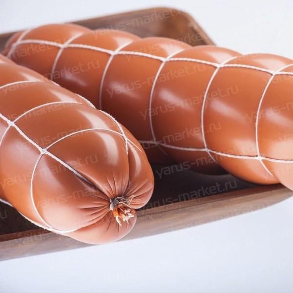 Неэластичная колбасная сетка «Четырехугольник» изогнутая
