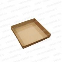 Картонные коробки 19×19×3 см открытая для кондитерских изделий