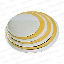 Подложка золото под торт, пирог, в ассортименте
