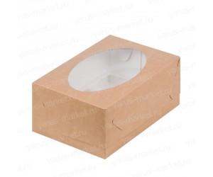 Картонная коробка с овальным окошком