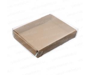 Картонная коробка с прозрачной крышкой
