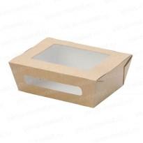 Картонная коробка с прозрачными вставками