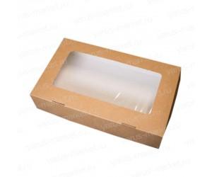 Картонная коробка с прозрачным окошком