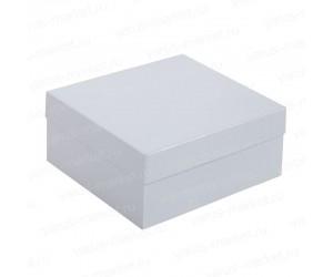 Картонная квадратная коробка с крышкой