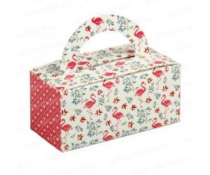 Картонная фигурная коробка с ручкой 12x5,5x5,5 см