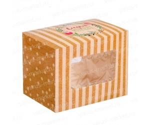 Картонная фигурная коробка 10x7x8 см