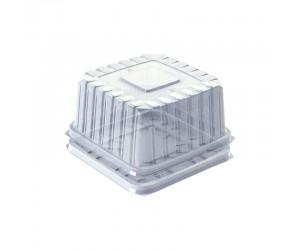 Квадратный пластиковый короб с ребристой крышкой