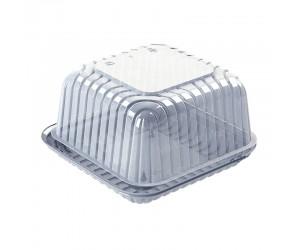 Квадратная тортница с ребристой крышкой