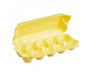 Желтый контейнер для яиц из ВПС, 230×105×65мм