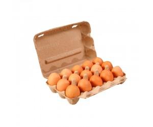 Бумажная упаковка для яиц на 15 ячеек