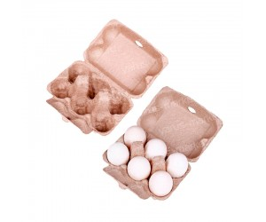 Бумажная упаковка для яиц на 6 ячеек
