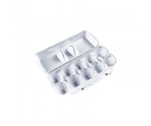 Белый контейнер для 10 яиц из ВСП
