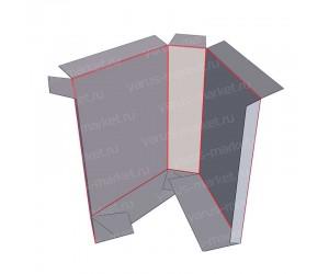Картонная коробка под склейку для медицины и фармацевтики