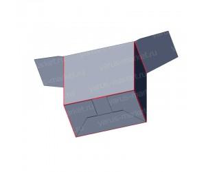 Картонная коробка для фармацевтики «Ласточкин хвост»