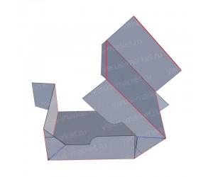 Картоная коробка на три точки для упаковки фармацевтики