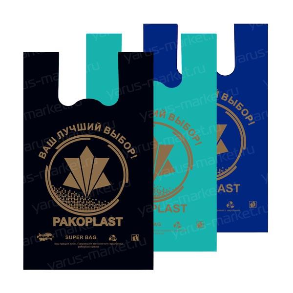 Пакеты-майки ПНД с логотипом