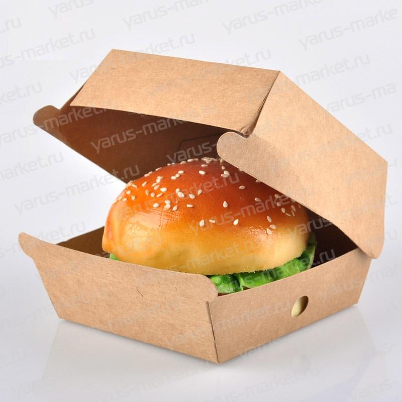 Коробка для гамбургера, 130х130х90 мм