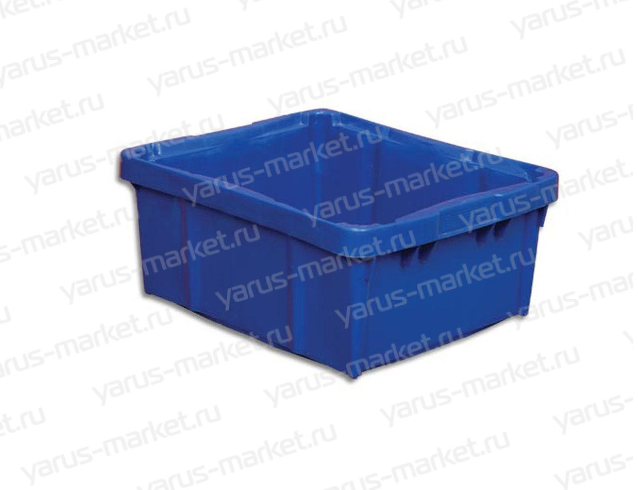 Пластиковый ящик, 480х392х220 мм, синий, для хранения продуктов