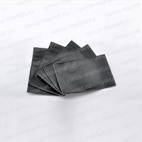 Дой-пак п/э с zip-lock, 130х160х30мм, фольгированный, черный