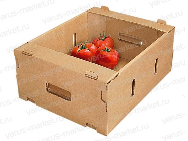 Овощной лоток, 530х450х235 мм., бурый, для перевозки