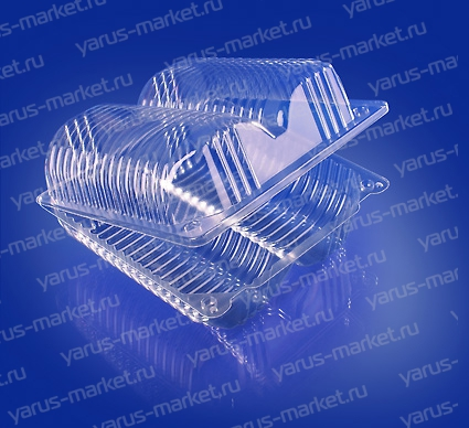 Пластиковая упаковка ИП-45 из ПЭТ/ОПС, для пончиков
