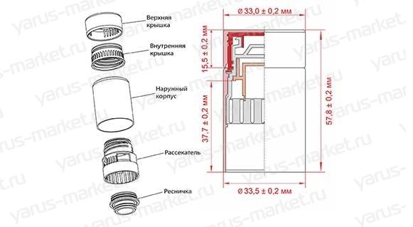 Комбинированное укупорочное устройство для КПМ-30 (Пластиковые колпачки)