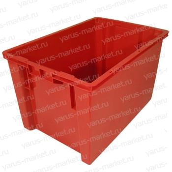 Универсальный пластиковый ящик, 600x400x350 мм., для мяса, рыбы