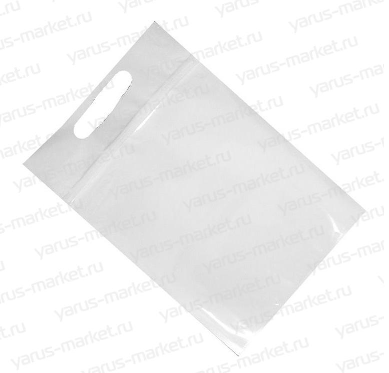 Фольгированный дой-пак с зиплоком и вырубной ручкой, 220х320 мм