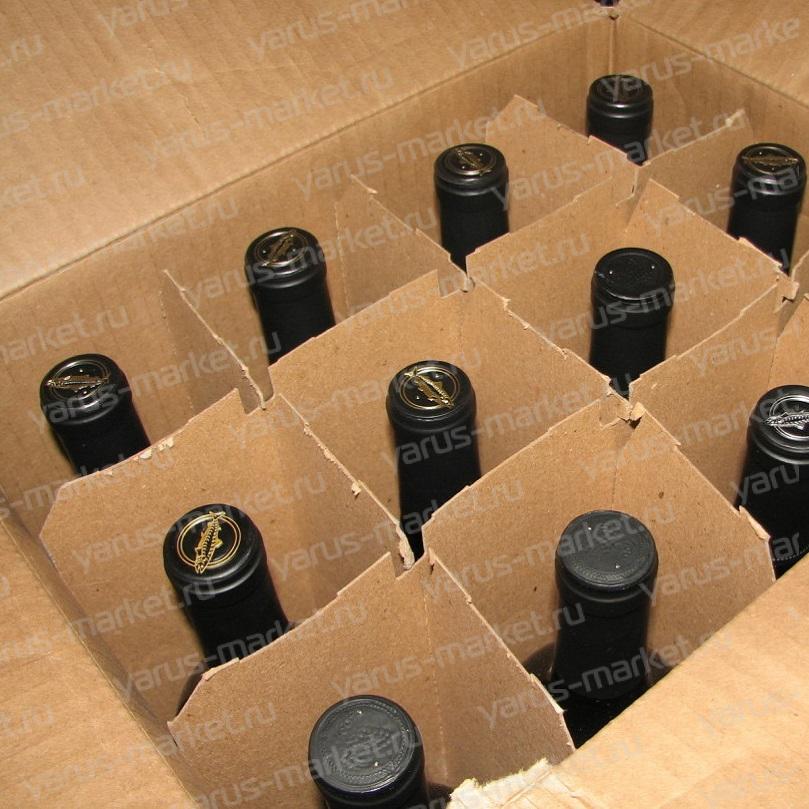 Гофрокороб под 12 бутылок, бурый
