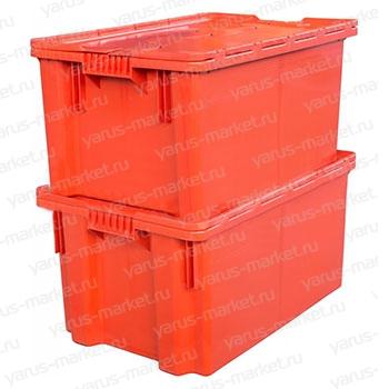 Пластиковый ящик 600x400x400 с крышкой