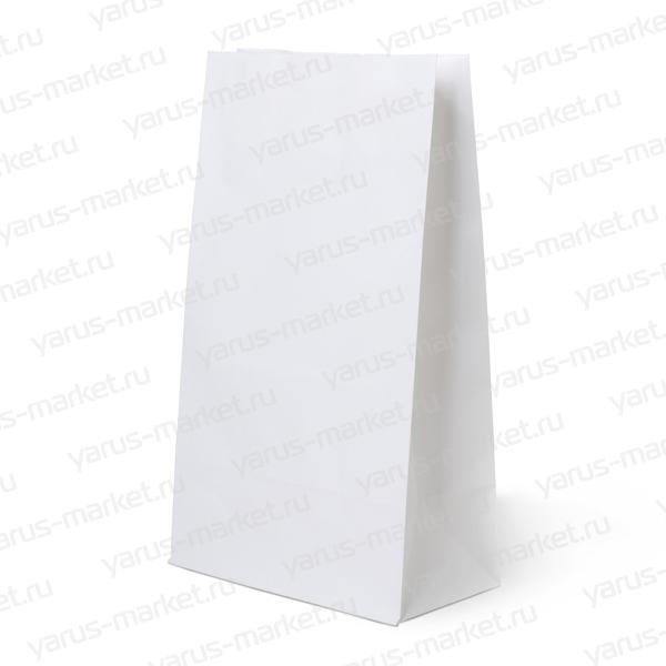 Крафт-пакет бумажный, белый, 25х12х8 см