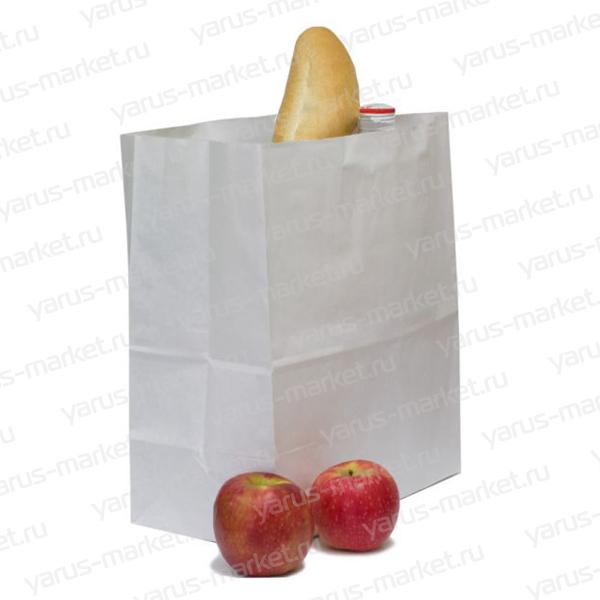 Крафт-пакет бумажный, белый, 29*18*12 см