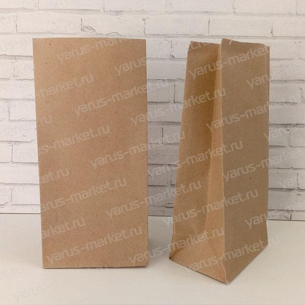 Крафт-пакет, 19х11х9.5 см., бурый, для фасовки и хранения хлеба