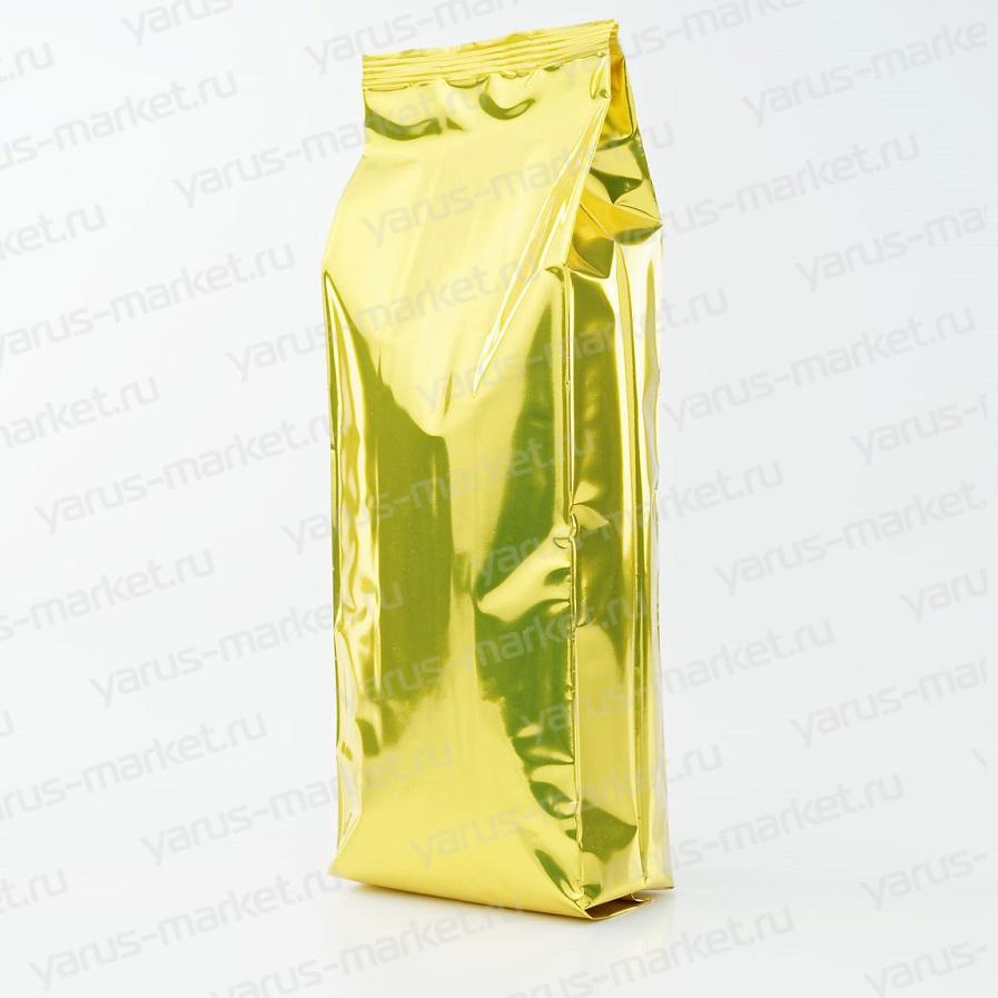 Пакет металлизированный, желтый, с центральным швом для чая/кофе