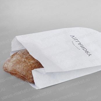 V-пакет для выпечки, белый, 25х17х7 см., для хранения хлебобулочных изделий
