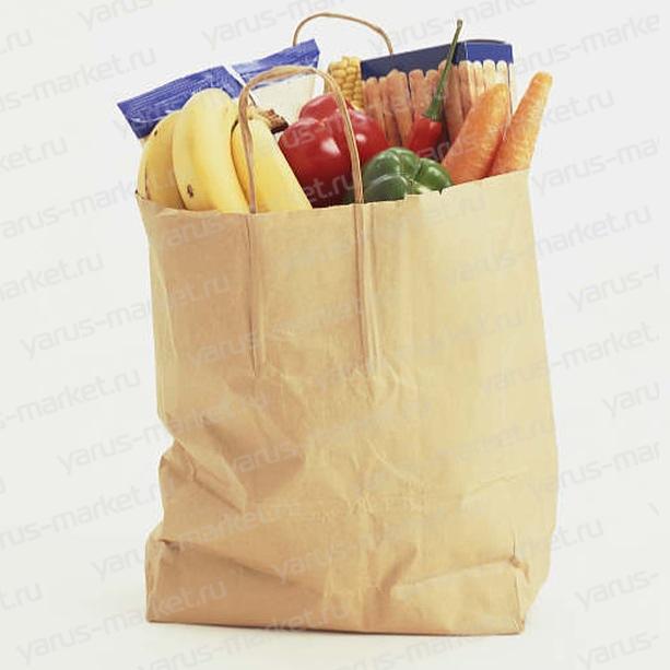 Крафт-пакет с крученой ручкой для хлеба и хлебобулочных изделий