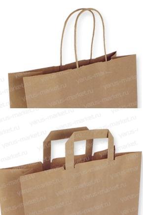 Крафт-пакеты бумажные с ручками